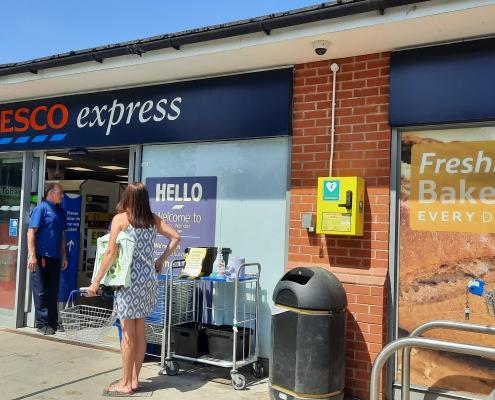 Defibrillator - Outside Tesco Express on Brindley Road